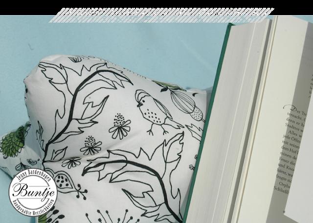 Leseknochen lesen Kissen bequem nähen