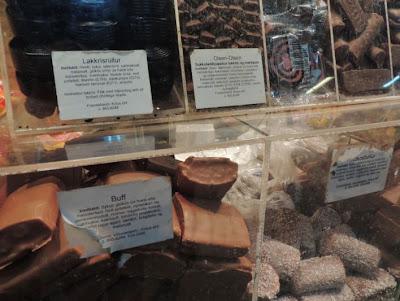 Icelandic liquorice-based sweets