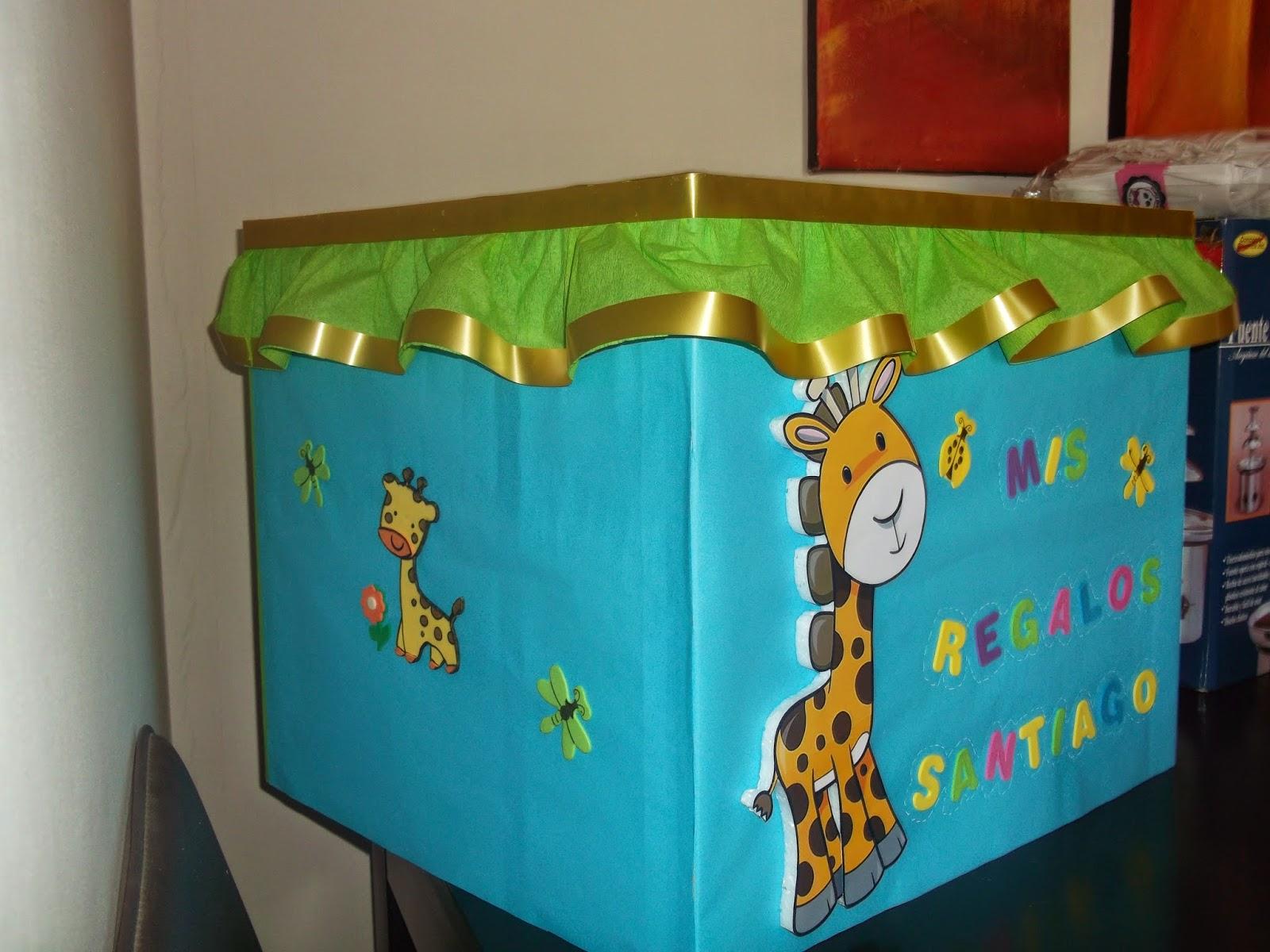 Eventos para tu beb caja regalos animalitos de la selva - Decoracion para regalos ...