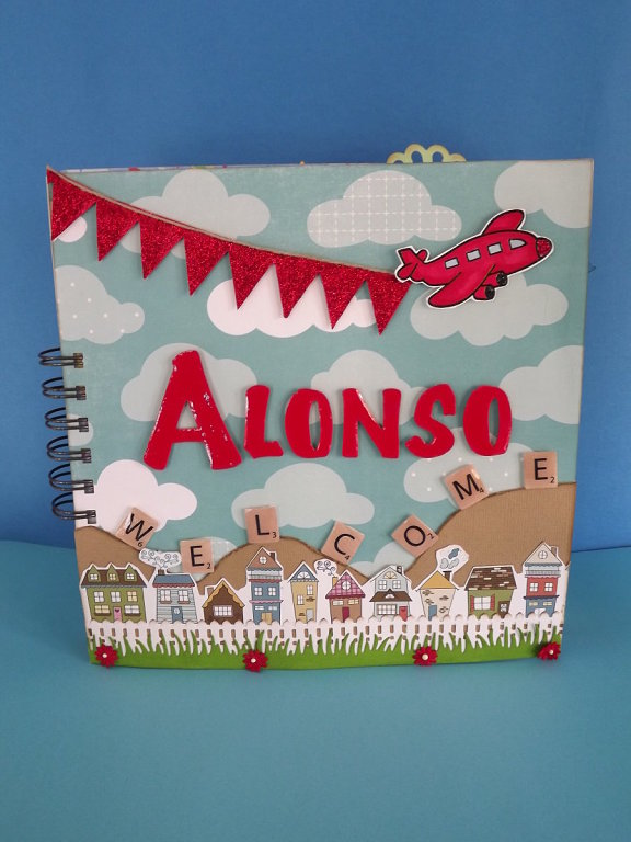 Descubriendo el scrap: Album Infantil para Alonso