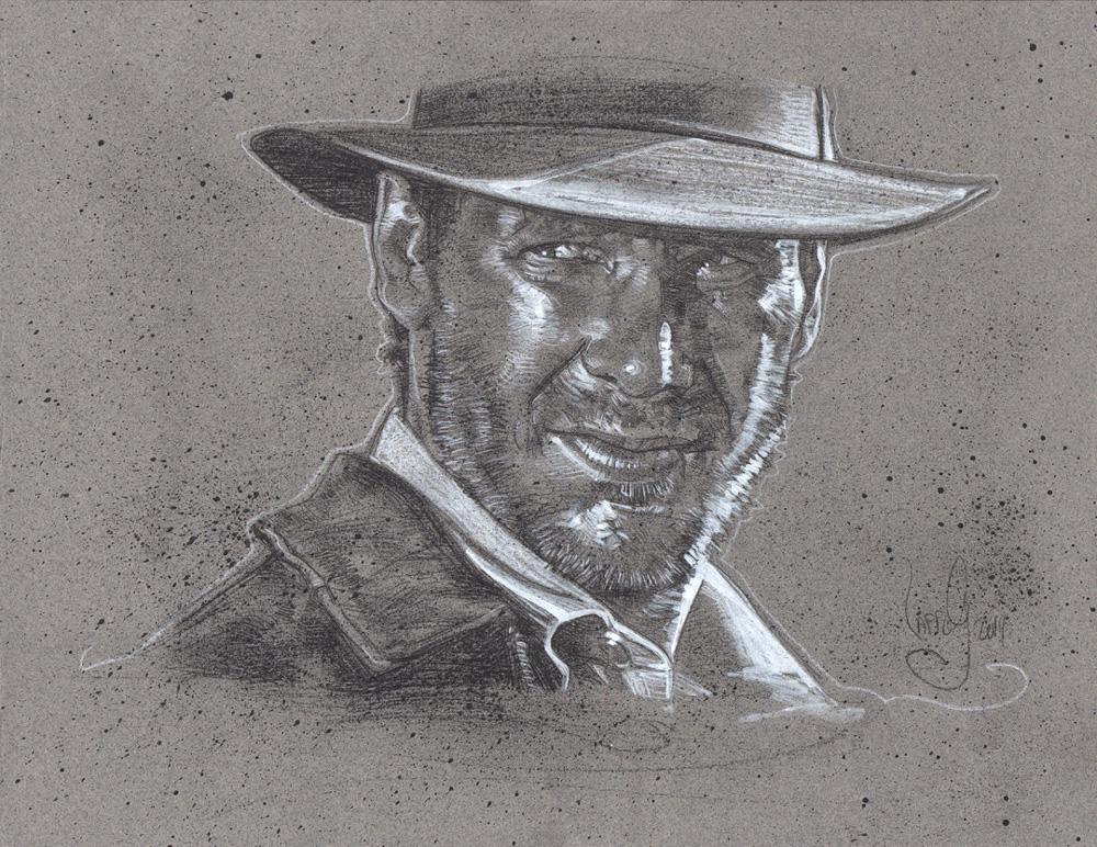 Indiana Jones, Artwork is Copyright © 2014 Jeff Lafferty