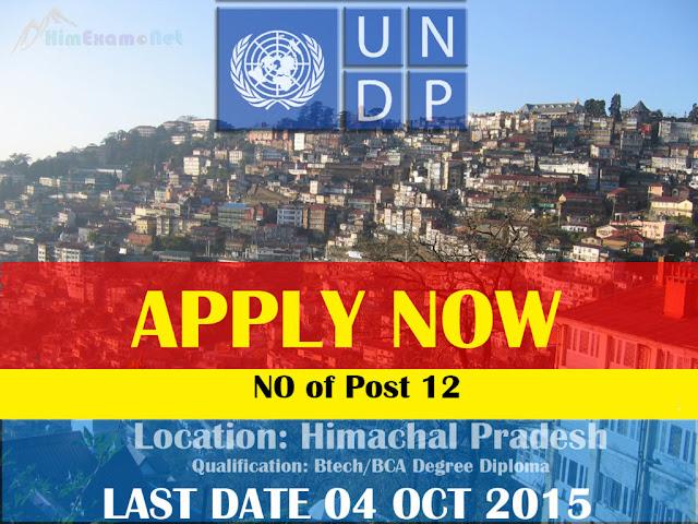 Individual Consultant 12 Post UNDP Himachal Pradesh 04 Oct Last Date