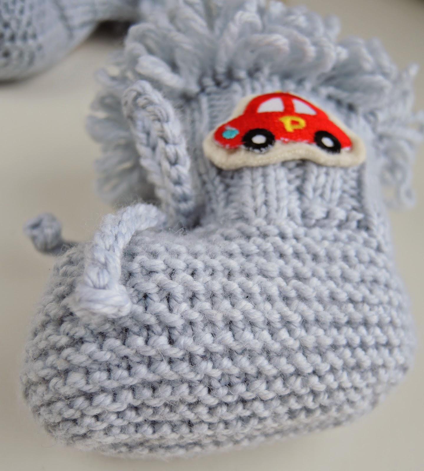 пинетки вязанные спицами для малышей ботиночки