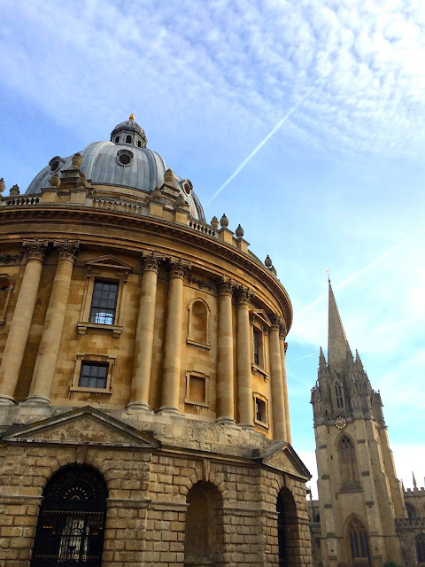 oxford with blue skies