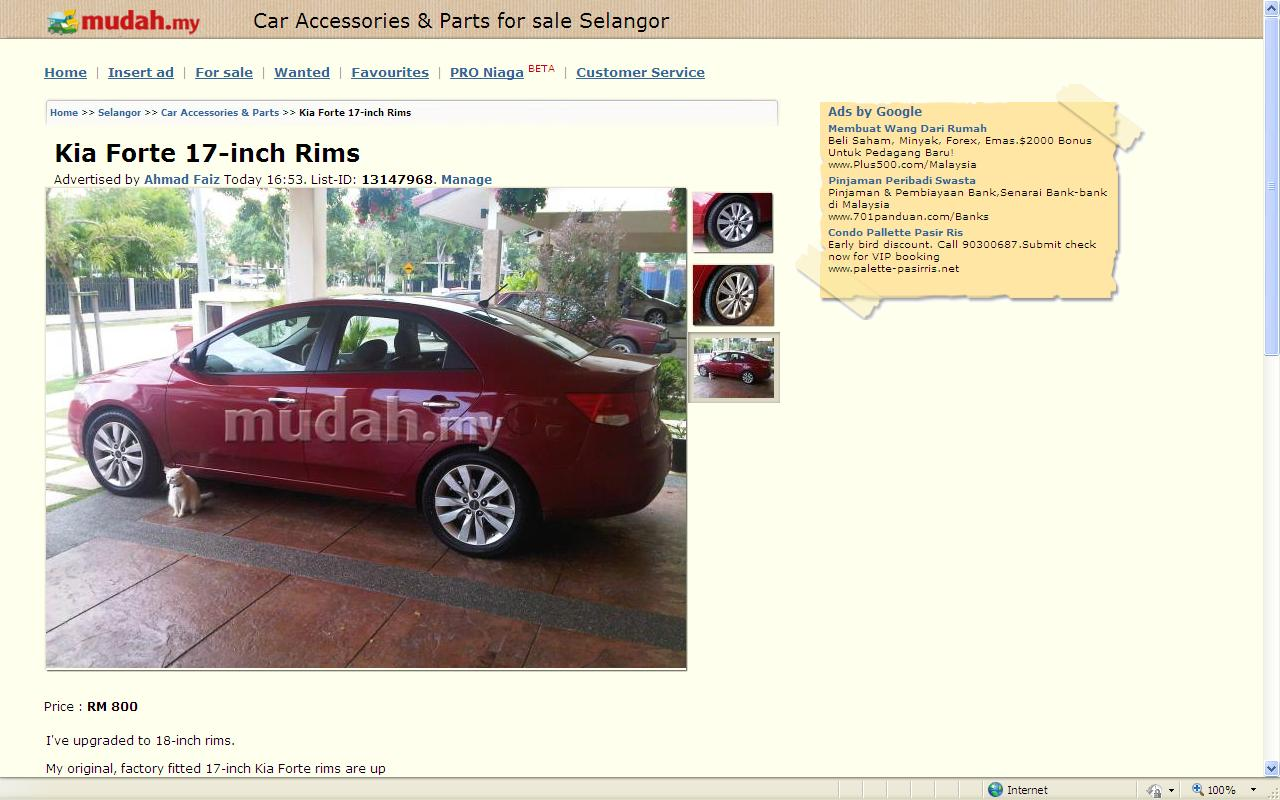 Grinner\'s Cars Malaysia Blog: Don\'t Trade-in Your Old Rims - Sell ...
