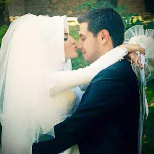 Cute couple muslim