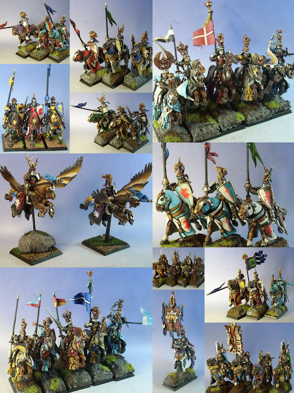 Collage of Bretonnia Army model photos