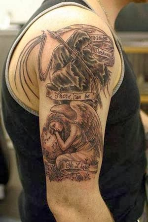 tatuagens de anjos da morte com nomes