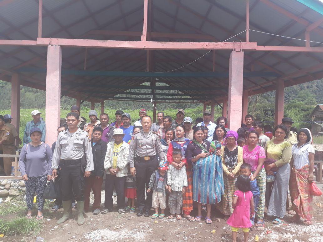 Cek TPS Rawan III, Kapolsek Kutalimbaru Tinjau Dusun XI Sumbaiken Dua