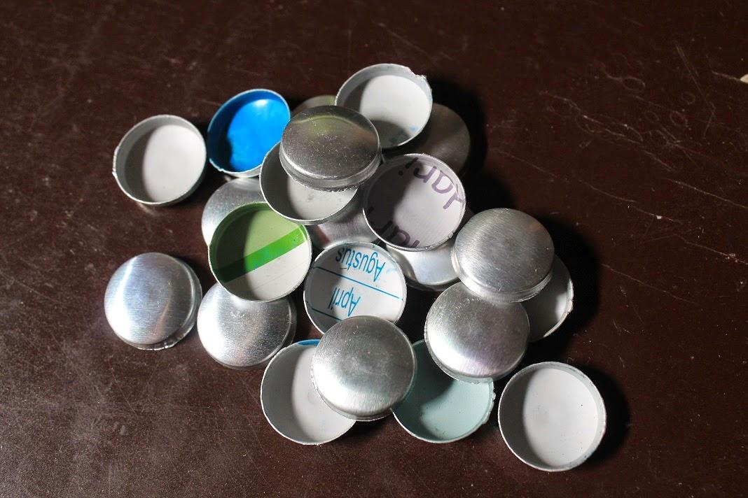 lempengan logam untuk membuat kancing bungkus sendiri