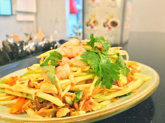 Tonkin Vietnamese Noodle Bar - Green Mango Salad with Shrimps