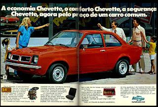 propaganda chevette - 1978.  brazilian advertising cars in the 70s; os anos 70; história da década de 70; Brazil in the 70s; propaganda carros anos 70; Oswaldo Hernandez;