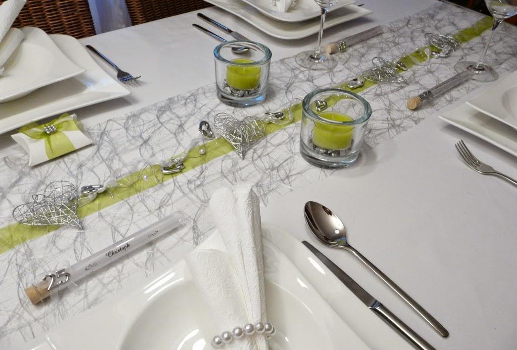 Mustertische zur silberhochzeit gastgeschenke tischkarten serviettenringe bei tischdeko - Gastgeschenke silberhochzeit ...