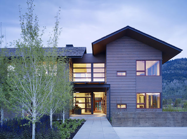 The Peaks View Residence, A Unique Home near Wyoming - Inspiring Modern Home