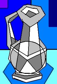 Jarrón gris