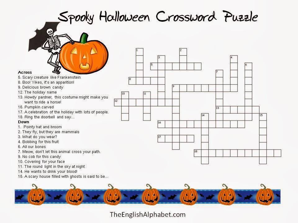 halloween crossword printable 2 halloween crossword printable 3 ...
