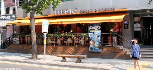 Cafetería en barrio francés de Seocho en Seúl