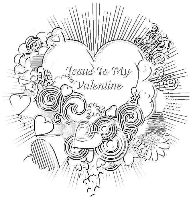 jesus valentine coloring pages - photo#31