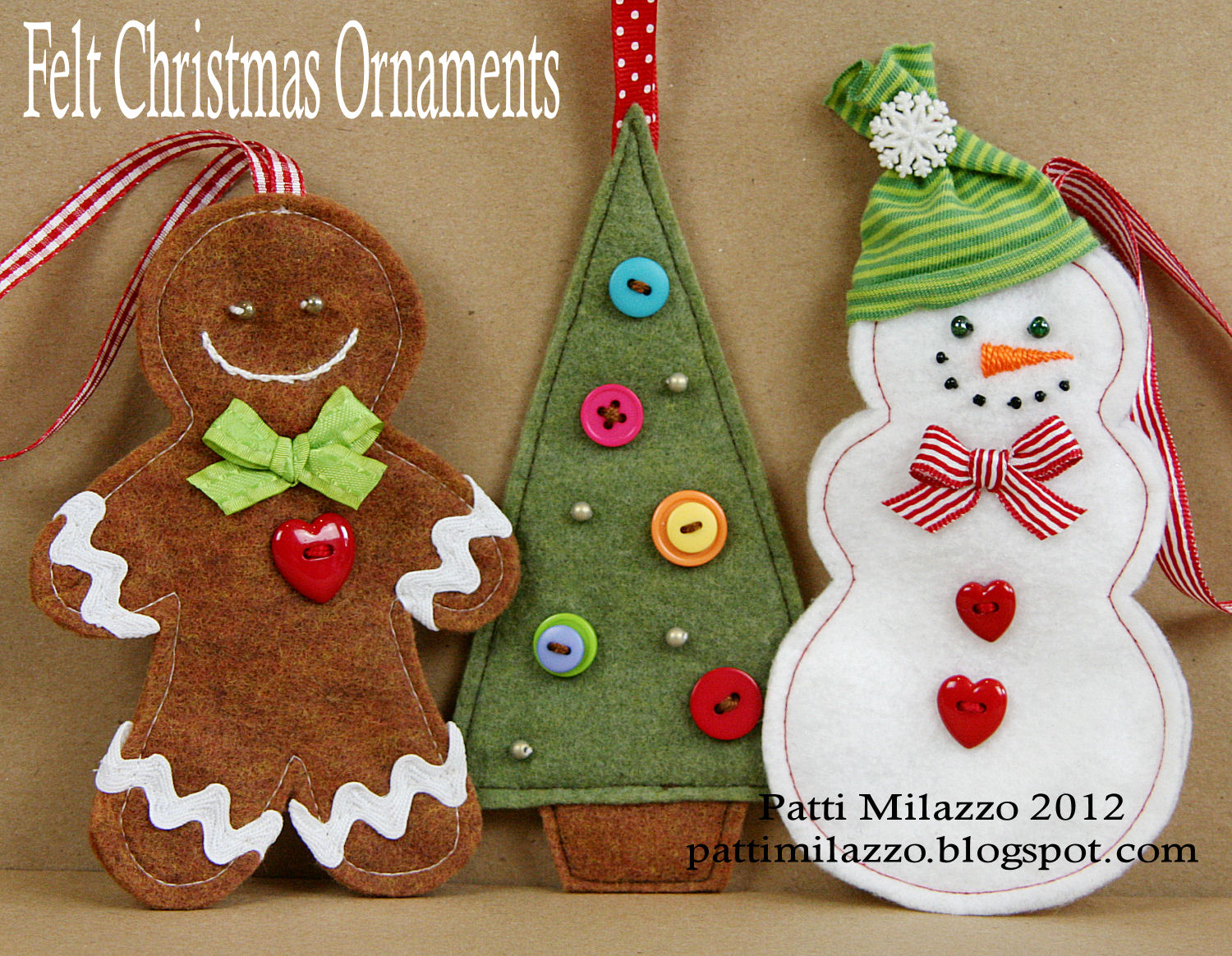 Felt Crafts Christmas Ornaments