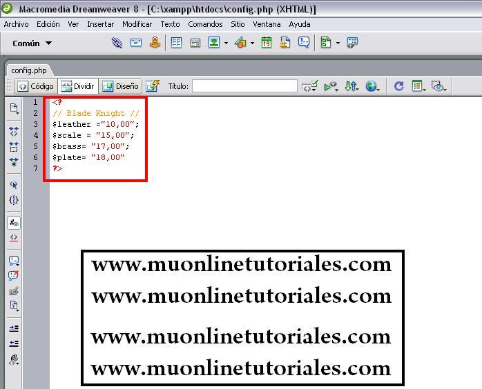 Webshop para muonline
