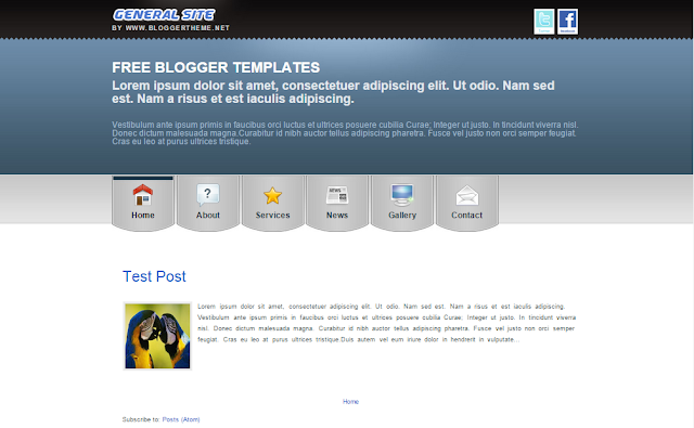 General Site Blogger Template