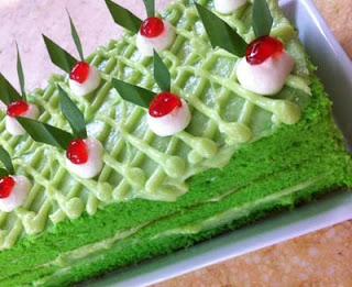 Resep cake pandan lembut