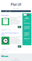 Responsif Blogger Template Tablet