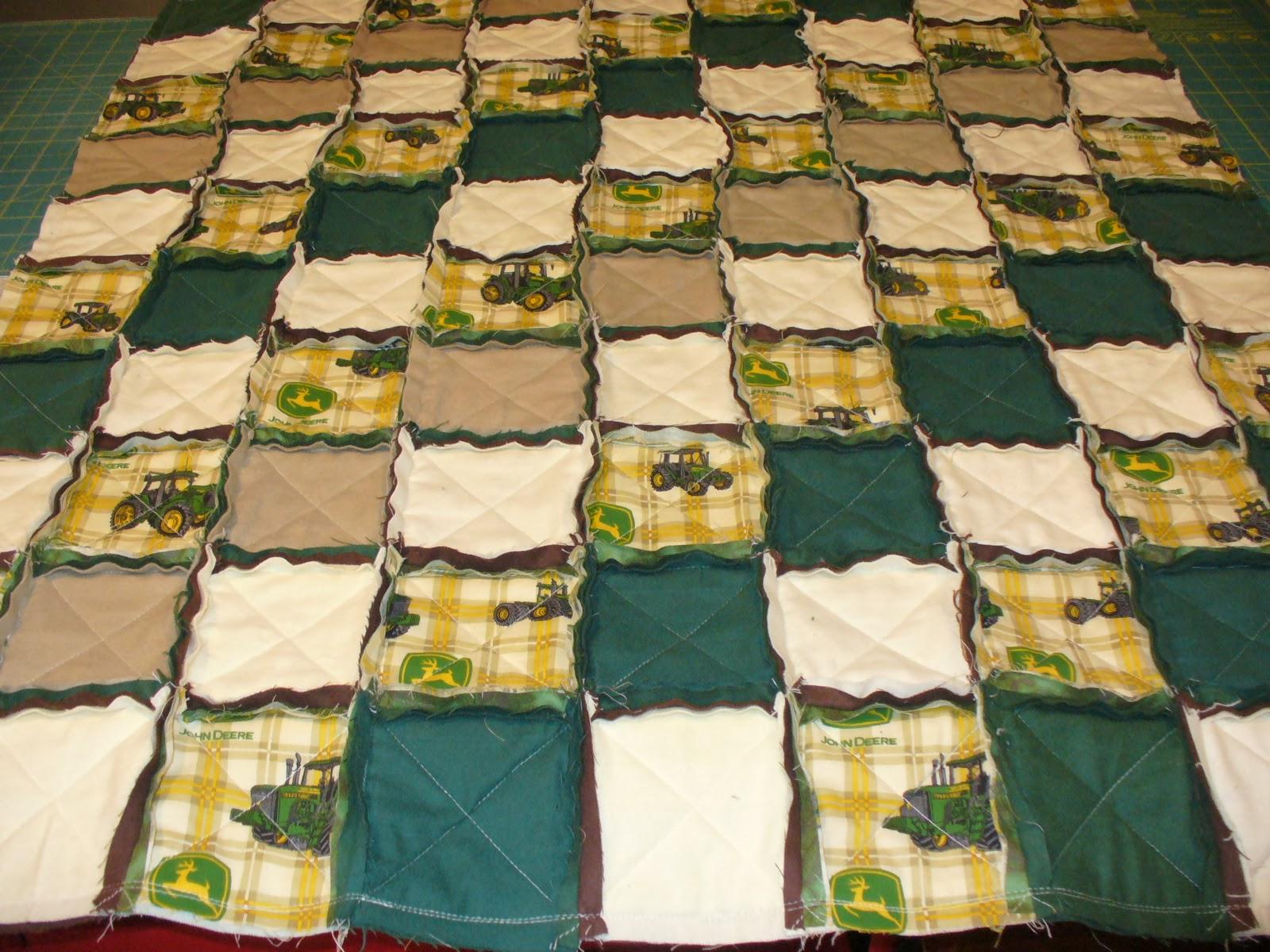 Ashlawnfarms Rag Quilt Creations John Deere Rag Quilt