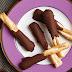 Pretzels con Mantequilla de Mani y Chocolate para Halloween