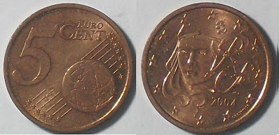 france 5 cent 2004