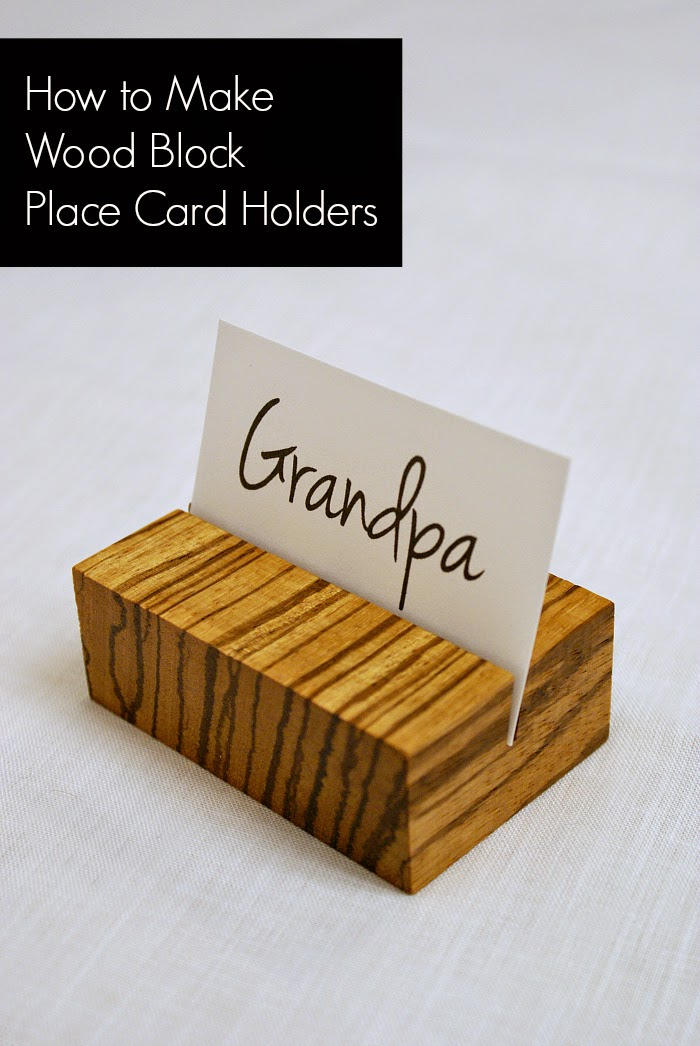Urban Acreage: How to Make Wooden Place Card Holders