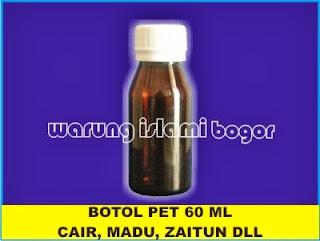 Jual Botol Plastik 60ml Cokelat