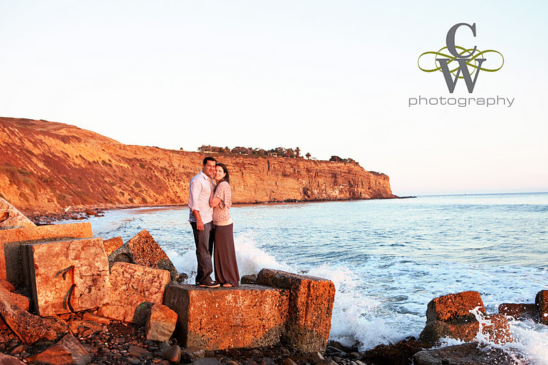 Engagement portrait, San Pedro