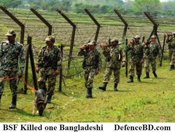 BSF man patrolling the border area.