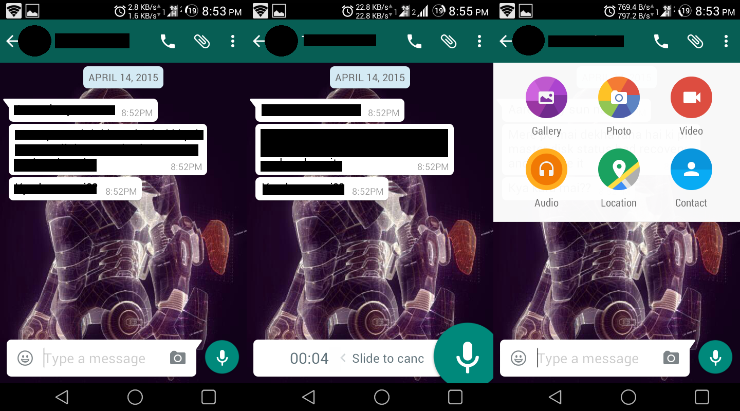 Whatsapp updated to Material Design