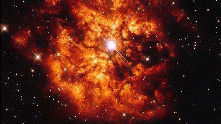 Imagen de una estrella masiva