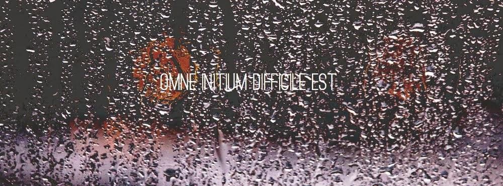 ''OMNE INITIUM DIFFICILE EST''