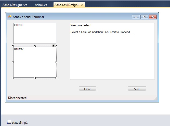 Serial port using visual basic