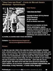 """""""Uma Casa nas Ruas"""" Conto de Manuel Amaro Mendonça"""