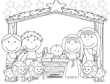 bible coloring pages jesus birth - photo#20