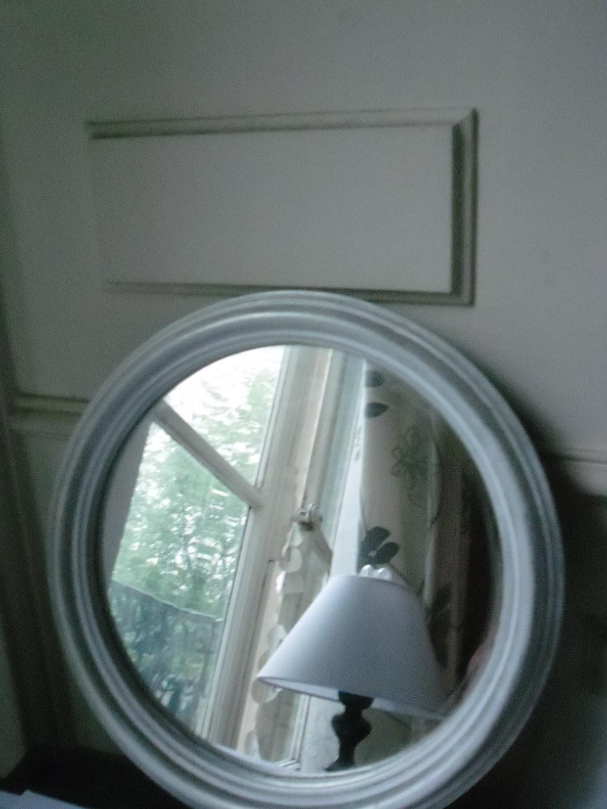 L 39 atelier des couleurs du temps miroir rond en bois style for Miroir rond blanc