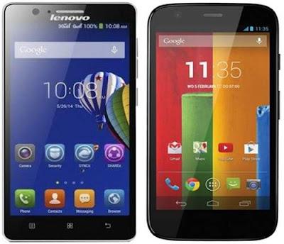 Lenovo A536 vs Motorola Moto G