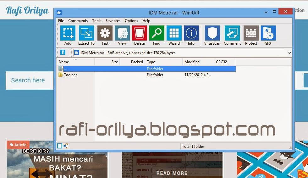Winrar Skin Toobar Metro UI