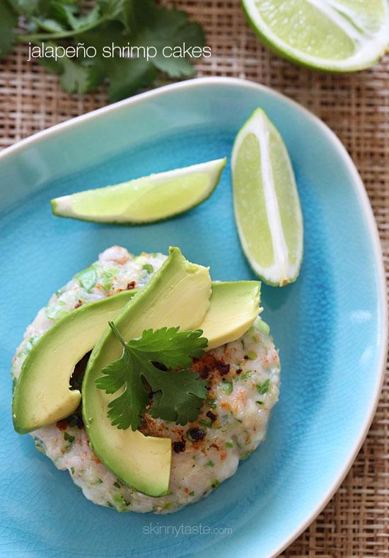 Jalapeño Shrimp Cakes | Skinnytaste