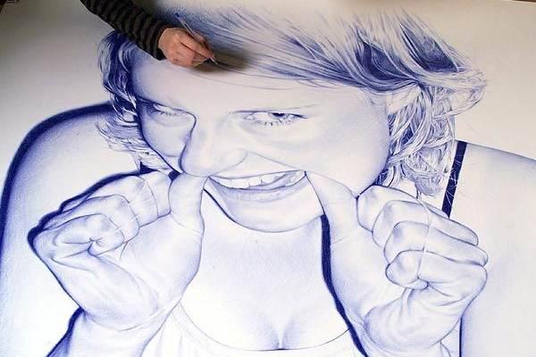lukisan pulpen