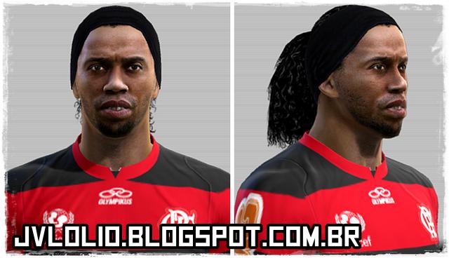 Face de Ronaldinho Gaúcho é um futebolista brasileiro que atua como meia ou atacante, atualmente, joga pelo Flamengo para PES 2012 Download, Baixar Face de Ronaldinho Gaúcho para PES 2012