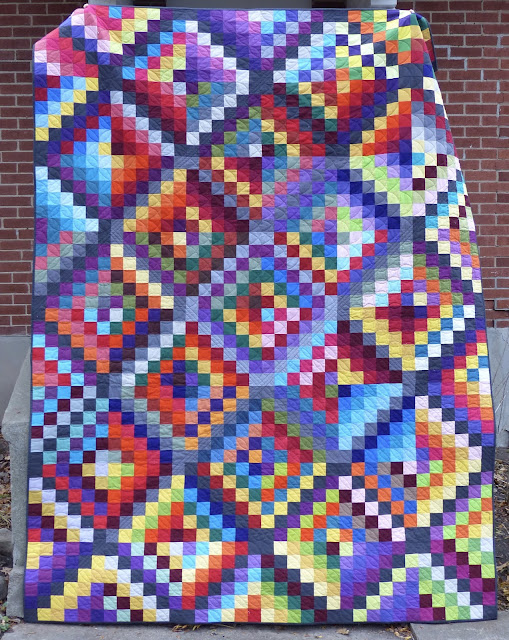 Vertical photo of Carsick quilt
