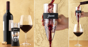 Wine poured through the Zazzol Wine Aerator are much sharper and more enjoyable than the same wine poured from the bottle!