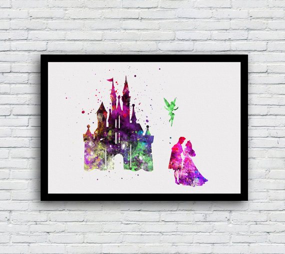 Disney watercolor