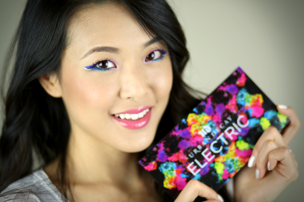 Tutorial Urban Decay Electric Neon Ombr Winged Liner From Head